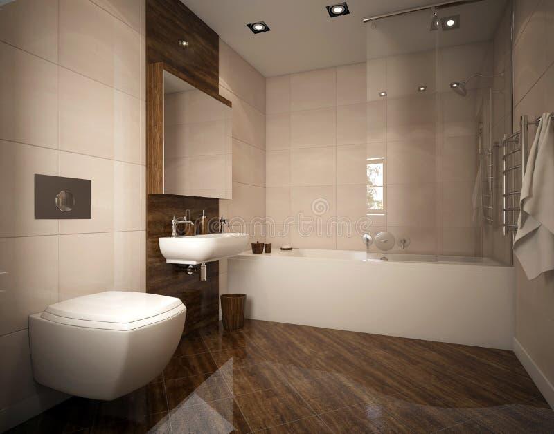 Diseño moderno del cuarto de baño foto de archivo