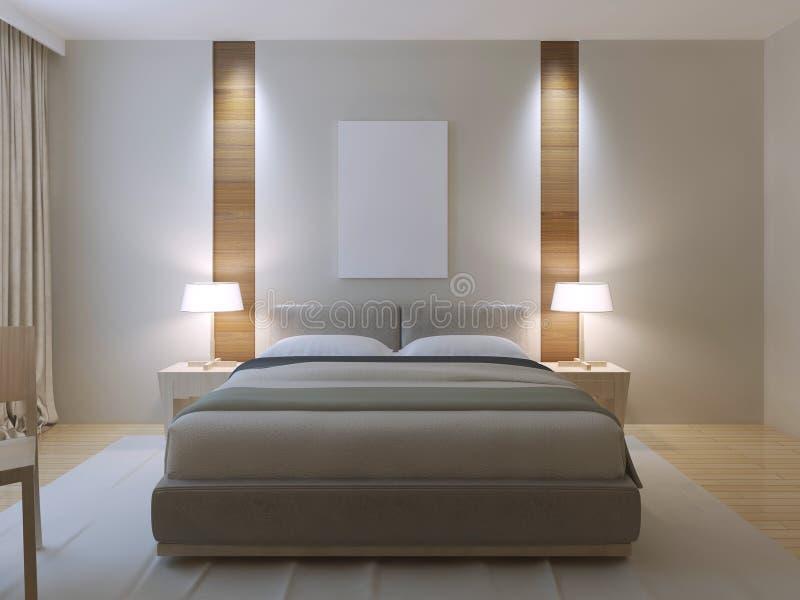 Diseño moderno del dormitorio principal stock de ilustración