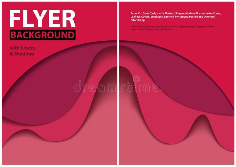 Diseño moderno del estilo del corte del papel del aviador con capas rojas ilustración del vector