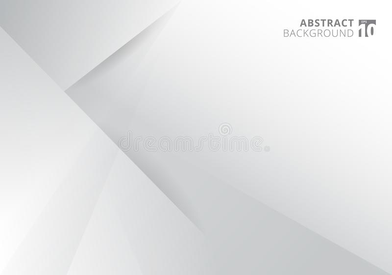 Diseño moderno del fondo del color blanco y gris de la plantilla del extracto Triángulos geométricos con el gráfico de la sombra libre illustration