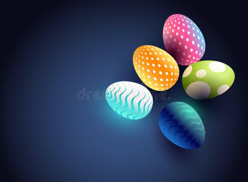 Diseño moderno del fondo del huevo de Pascua stock de ilustración