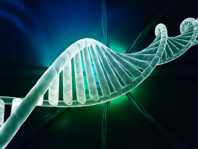Diseño moderno del hilo de la DNA stock de ilustración