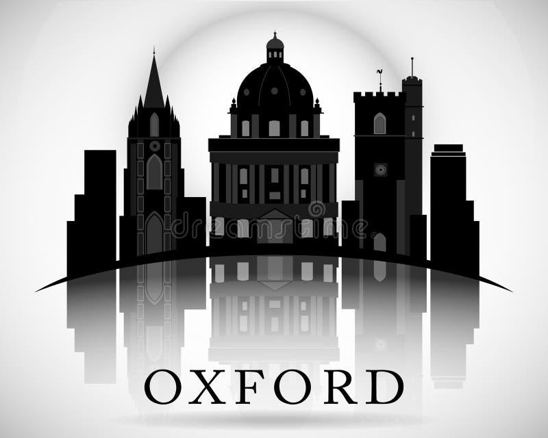 Diseño moderno del horizonte de la ciudad de Oxford inglaterra libre illustration