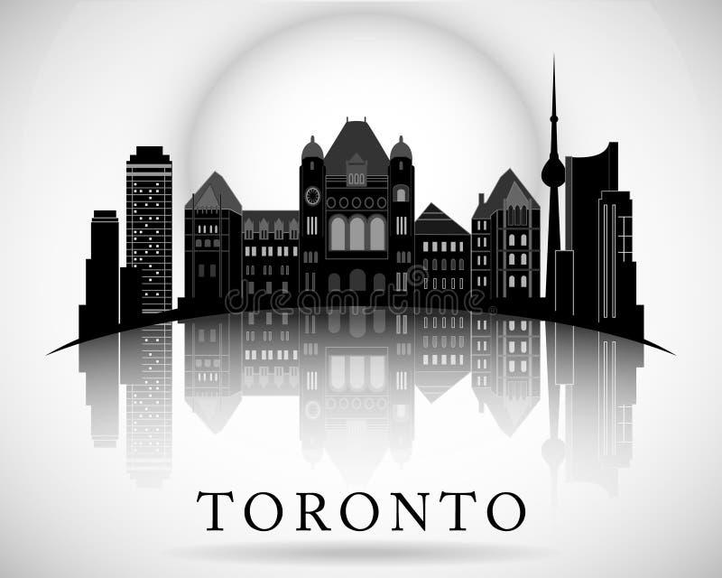 Diseño moderno del horizonte de la ciudad de Toronto canadá stock de ilustración