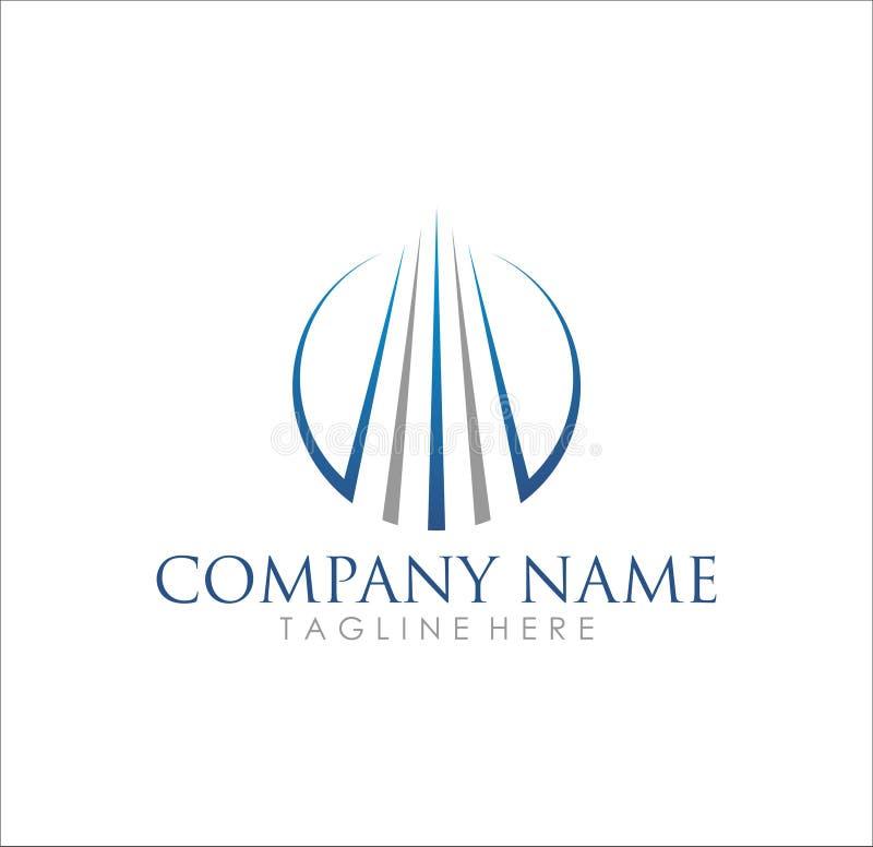 Diseño moderno del logotipo de la compañía del edificio del negocio stock de ilustración