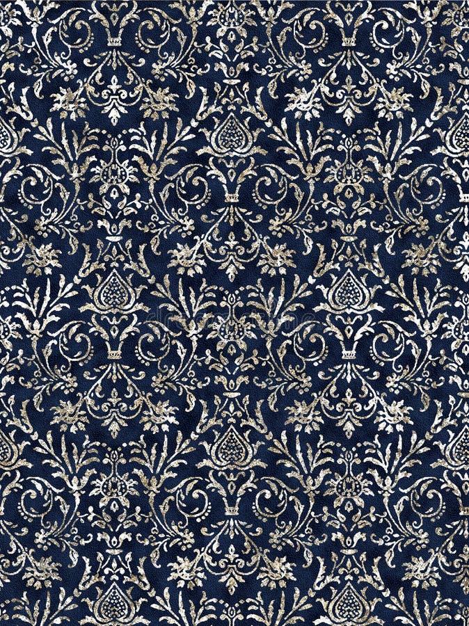 Diseño moderno del modelo de la repetición de la textura del batik libre illustration