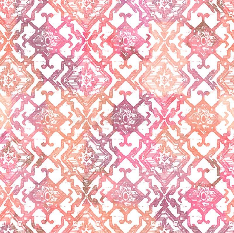 Diseño moderno del modelo de la repetición de la textura del teñido anudado del batik libre illustration