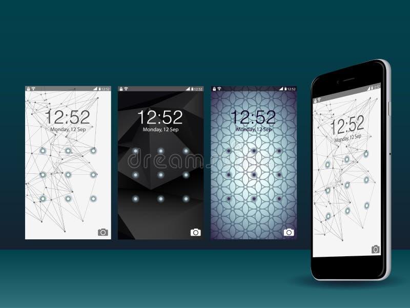 Diseño moderno del vector de la pantalla del GUI de UI para el app móvil libre illustration