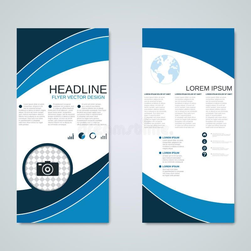 Diseño moderno del vector de las banderas del rollo-para arriba stock de ilustración