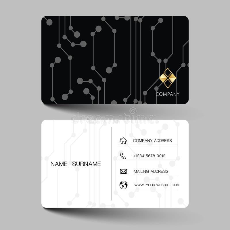 Diseño moderno negro de la tarjeta de visita Con la inspiración de la tarjeta abstracta del contacto para la compañía Illus limpi libre illustration