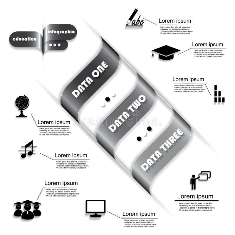 Diseño moderno para el proceso de la educación, infographic ilustración del vector