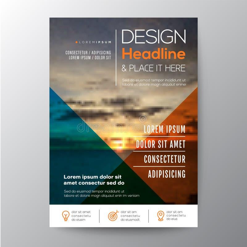 Diseño multi de la plantilla del propósito para el folleto del cartel del prospecto del aviador stock de ilustración