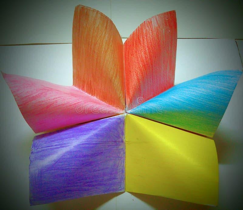 Diseño multi del papel del color imagenes de archivo