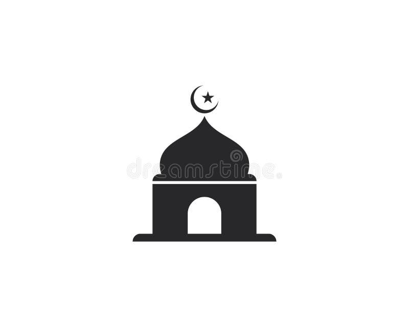 Diseño musulmán del ejemplo del vector del icono de la mezquita ilustración del vector