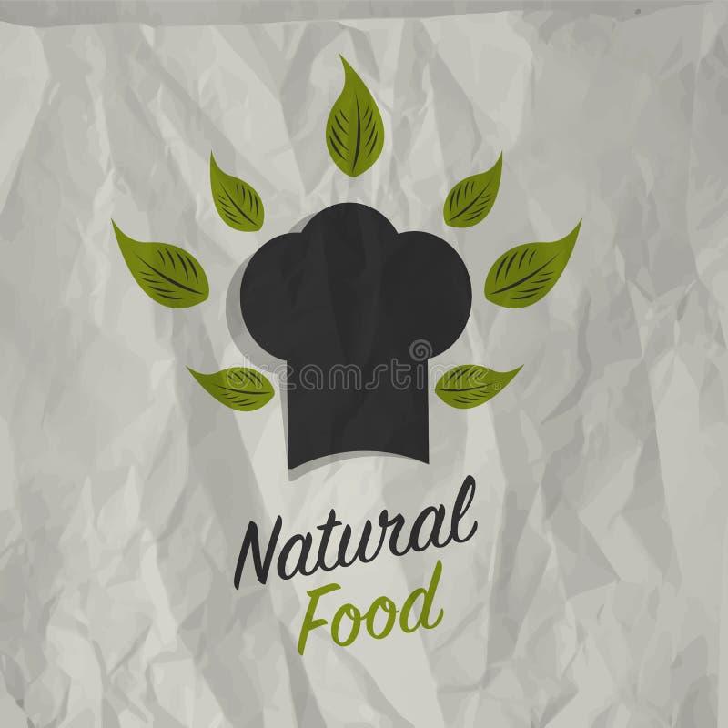 Diseño natural del cartel de la comida del vintage stock de ilustración