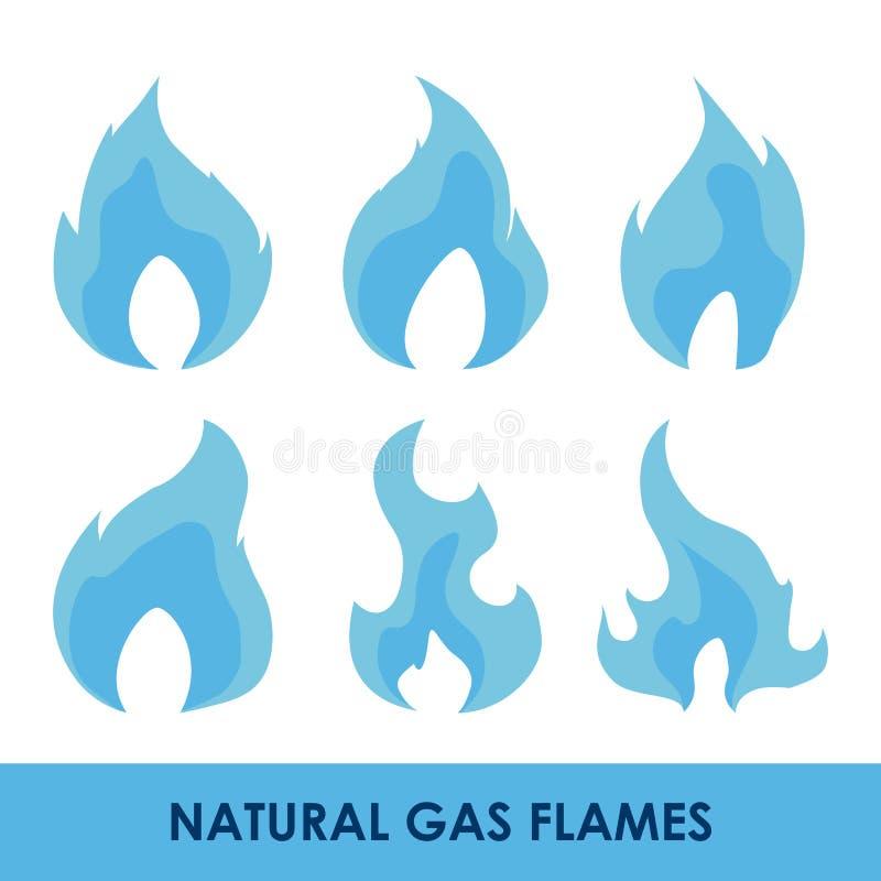 Diseño natural del gas stock de ilustración