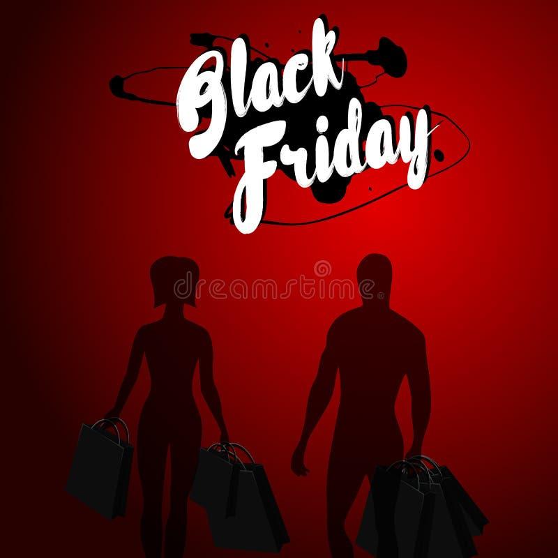 Diseño negro de la venta de viernes fotografía de archivo