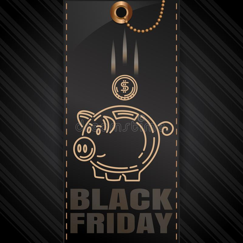 Diseño negro de la venta de viernes libre illustration