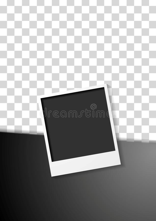 Diseño negro del aviador con el marco polaroid de la foto libre illustration