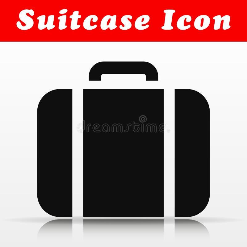 Diseño negro del icono del vector de la maleta libre illustration