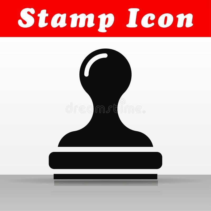 Diseño negro del icono del vector del sello ilustración del vector