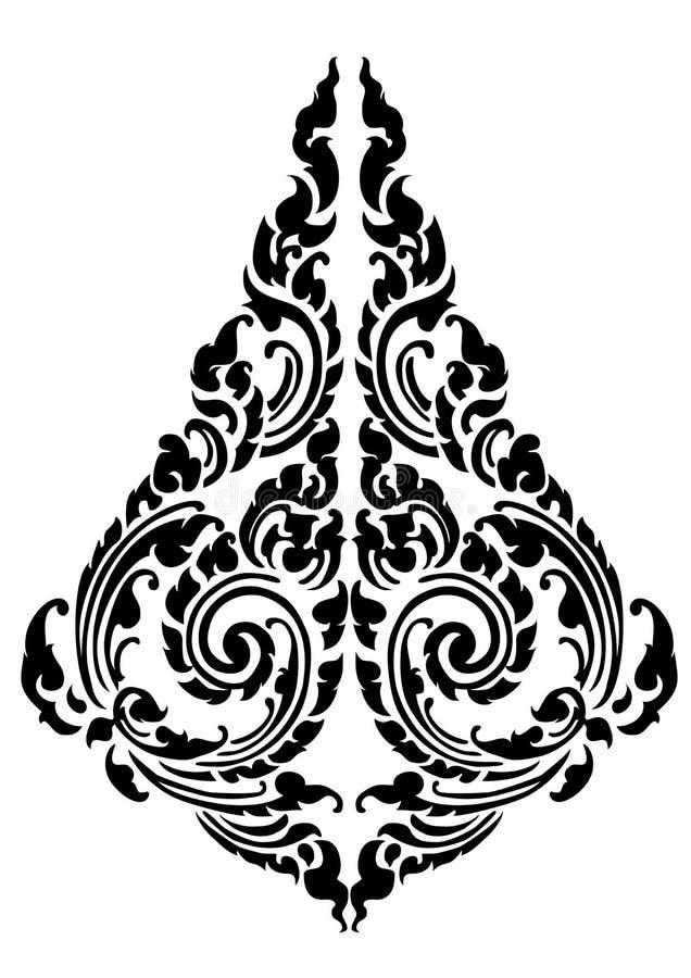 Diseño negro del tatuaje del modelo de la gota stock de ilustración