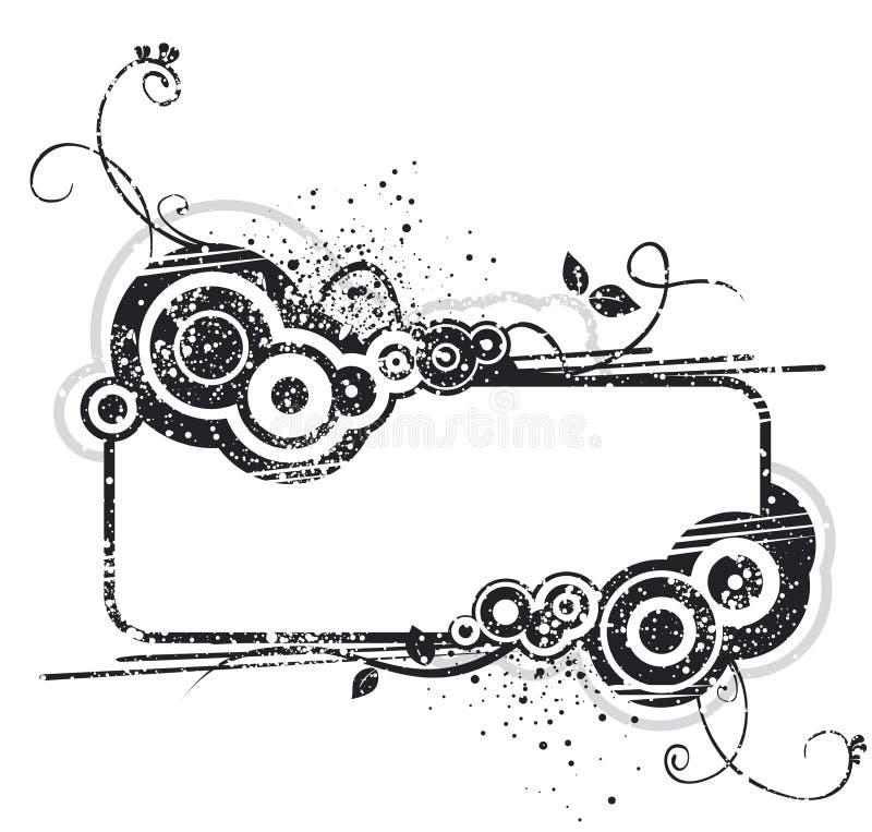 Diseño negro y blanco de la bandera libre illustration