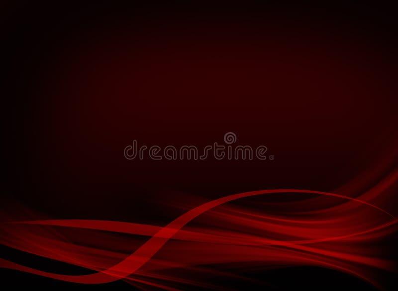 Diseño negro y rojo elegante del fondo stock de ilustración