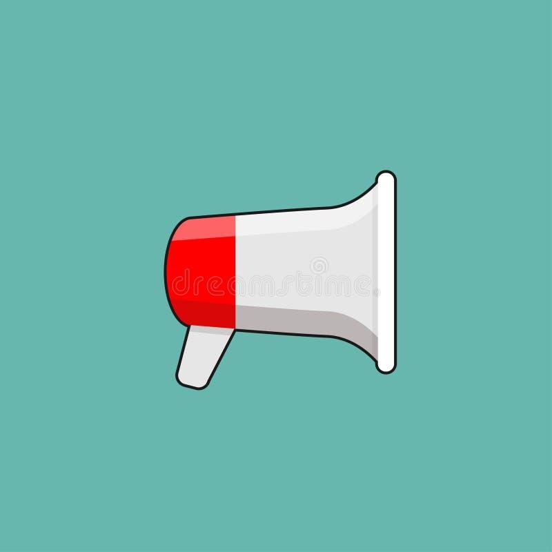 Diseño o megáfono del megáfono para amplificar libre illustration