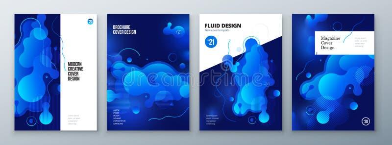 Diseño orgánico de la disposición del folleto Plantilla flúida brillante del color para el fondo del folleto, del catálogo, de la stock de ilustración