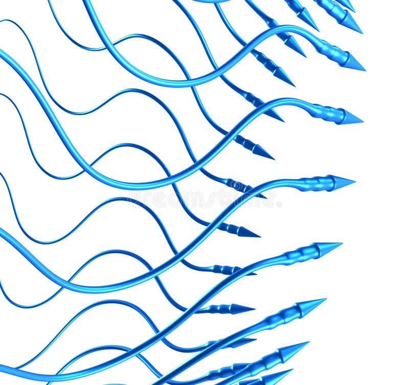 Download Diseño Orgánico De Las Flechas Del Fondo Abstracto 3D Stock de ilustración - Ilustración de artificial, flor: 1297919