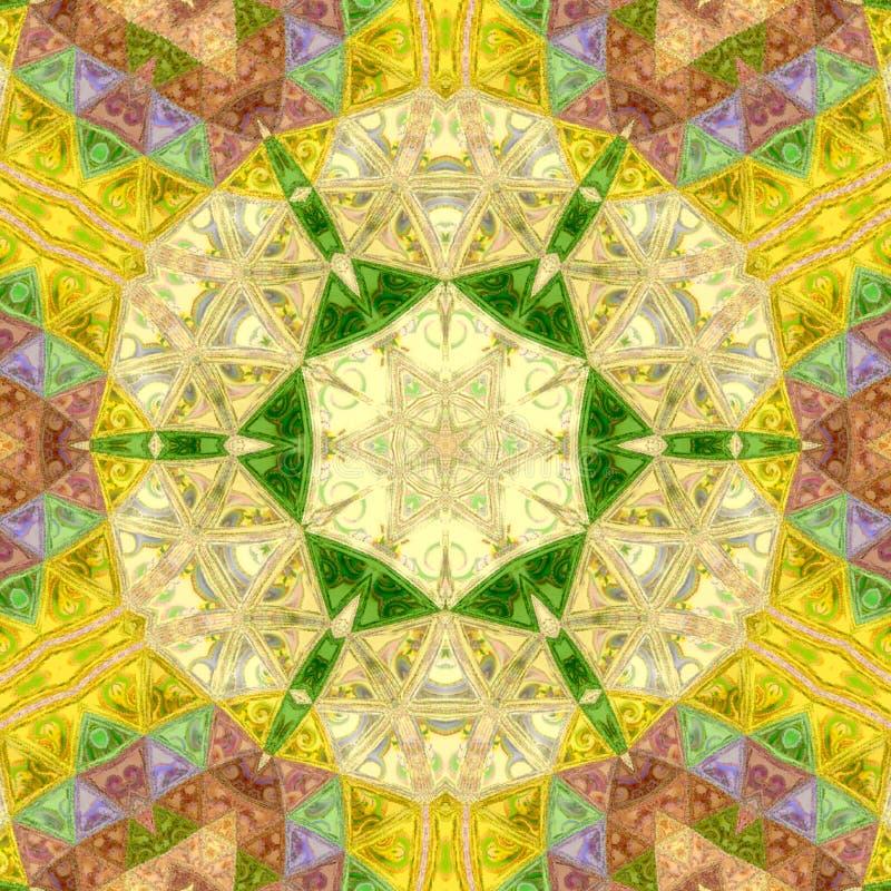 Diseño ornamental Mandala india de la flor Modelo colorido festivo de la mandala ilustración del vector