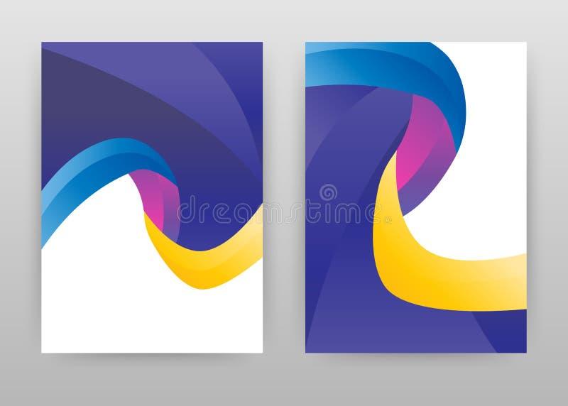 Diseño púrpura amarillo azul geométrico para el informe anual, folleto, aviador, cartel Ejemplo colorido del vector del fondo de  ilustración del vector