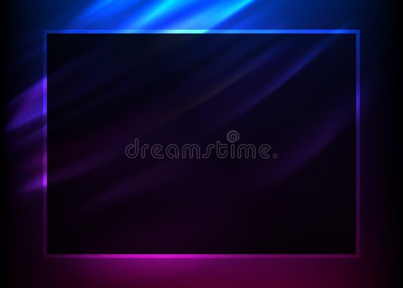 Diseño púrpura elements05 del folleto de publicidad del fondo ilustración del vector