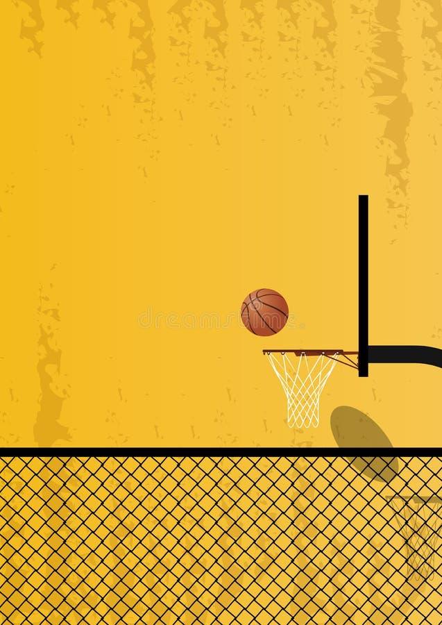 Diseño para el baloncesto Cartel para el torneo imagenes de archivo