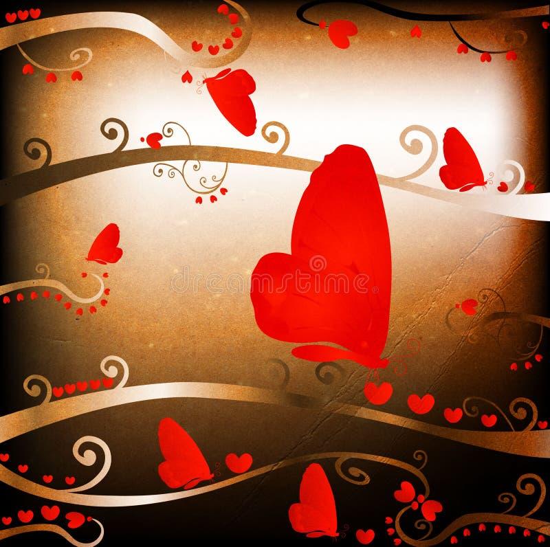 Diseño para las tarjetas del día de San Valentín ilustración del vector