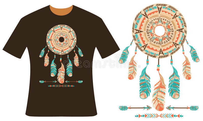 Diseño para su camiseta Dreamcatcher foto de archivo