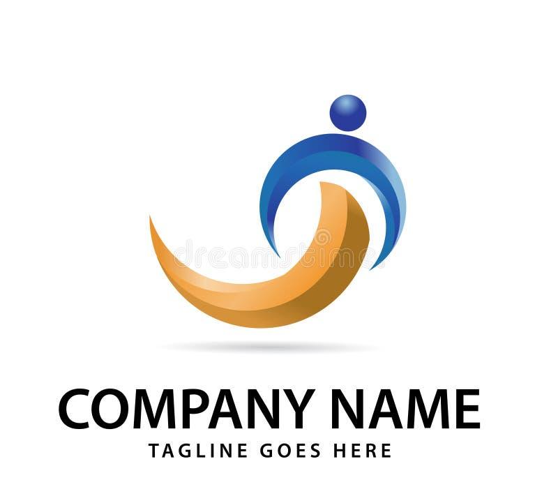 Diseño para su logotipo de la compañía, icono colorido abstracto del vector 3d logotipo moderno, vector corporativo del negocio ilustración del vector