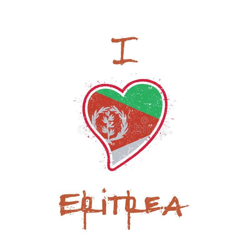 Diseño patriótico de la camiseta de la bandera del Eritrean ilustración del vector