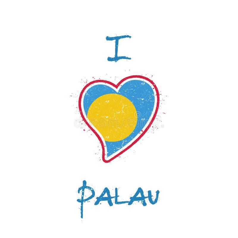 Diseño patriótico de la camiseta de la bandera de Palauan ilustración del vector