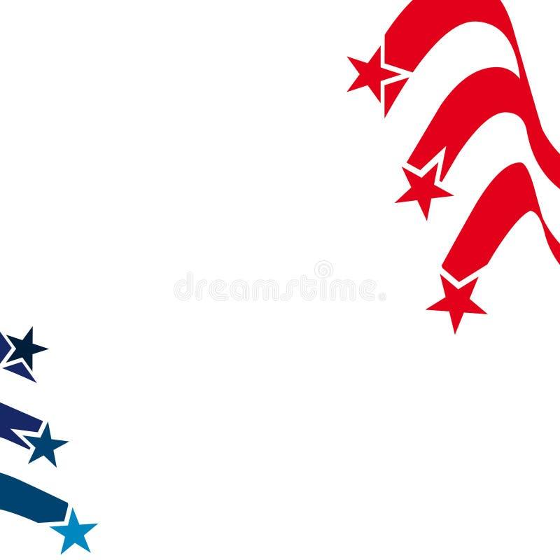 Diseño patriótico del fondo de Estados Unidos libre illustration