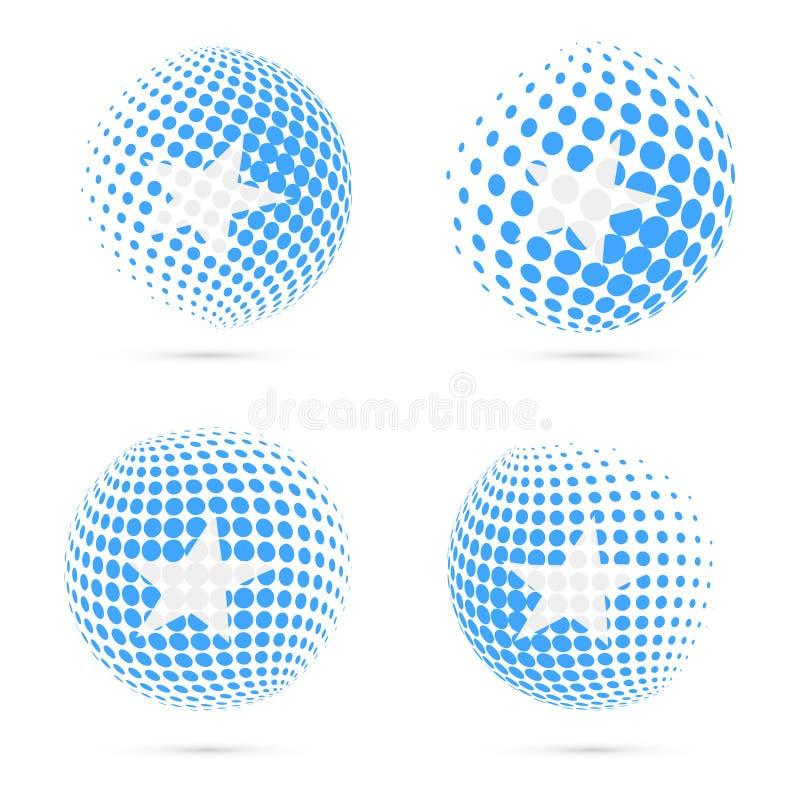 Diseño patriótico determinado del vector de la bandera de semitono de Somalia libre illustration
