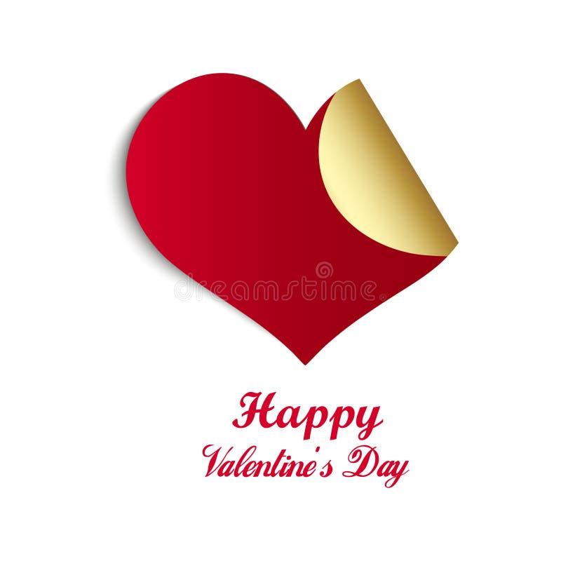 Diseño pegajoso en forma de corazón en el fondo blanco brillante para la celebración feliz del día del ` s de la tarjeta del día  libre illustration