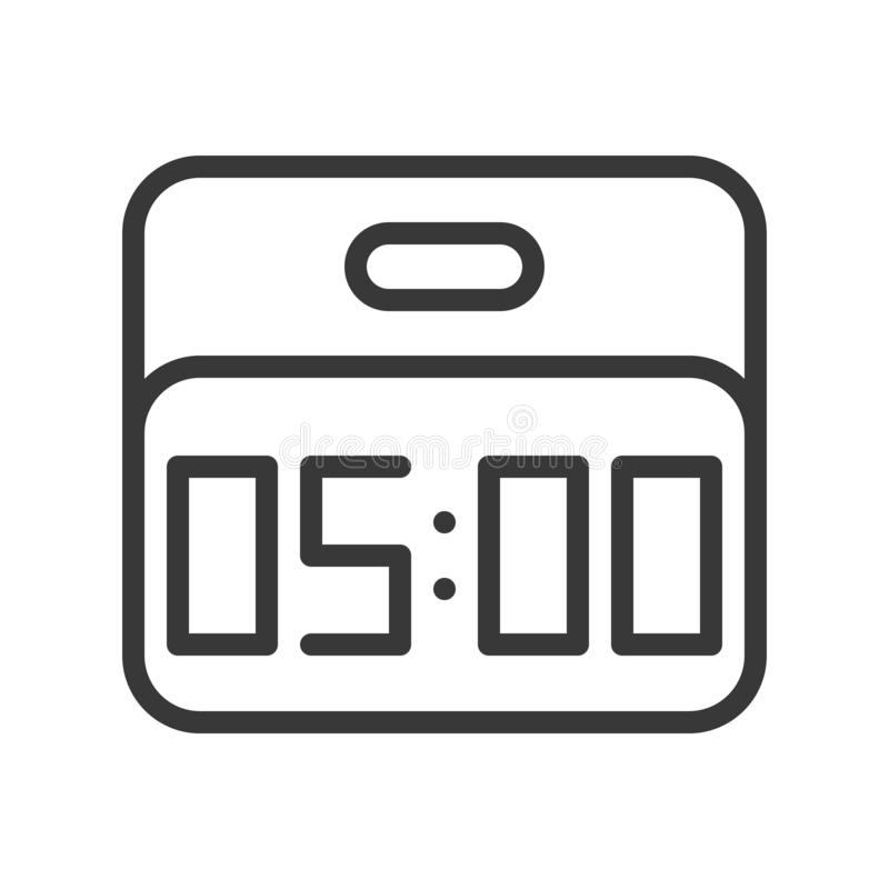 Diseño perfecto del pixel del icono del despertador, esquema editable del movimiento libre illustration
