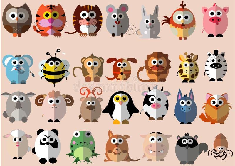 Diseño plano animal stock de ilustración