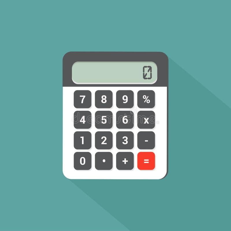 diseño plano de la calculadora con la sombra larga foto de archivo libre de regalías