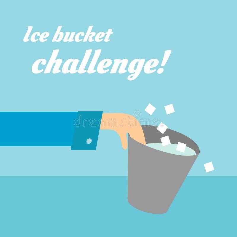 Diseño plano de la tarjeta del desafío del cubo de hielo del ALS libre illustration
