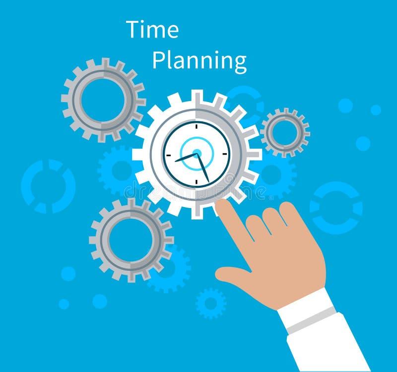Diseño plano del concepto del planeamiento del tiempo libre illustration