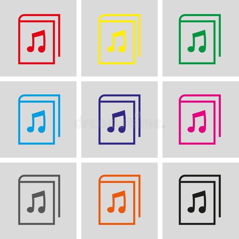 Diseño plano del ejemplo del vector de la acción del icono del audiolibro libre illustration