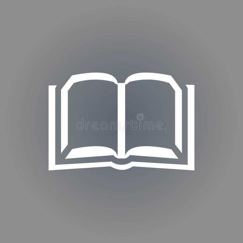 Diseño plano del ejemplo del vector de la acción del icono del libro libre illustration